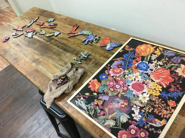 Joyful Nook Gallery, a puzzle shop opening at 640 Main Ave., plans to sell puzzles based on the work of local artists. The pieces of the puzzles will be designed as shapes that relate to the puzzle's themes.