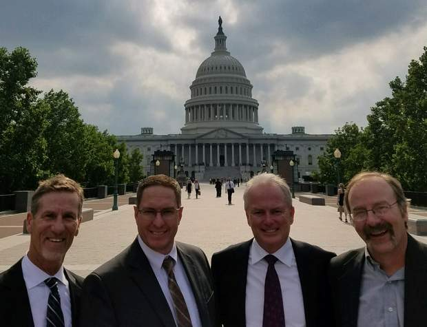 Left to right: Ty Churchwell of Trout Unlimited, La Plata County Commissioner Brad Blake, Durango City Councilor Dean Brookie and San Juan County Commissioner Scott Fetchenhier visited Washington, D.C., last week to plea for continued funding for the Bonita Peak Mining District Superfund site near Silverton.