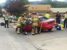 A red Ford Escort traveling north crossed the center line and hit a tree about 2:40 p.m. Tuesday near 24th Street and Main Avenue in Durango.
